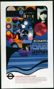 London underground poster - Cinema town theatre